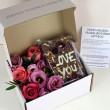 PERSONALISED FLORAL BROWNIE SLAB FLOWER GIFT BOX