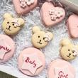Teddy Bear Baby Shower Macarons (Box of 12)