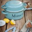 Enamel Mussel Pot