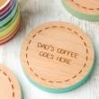 Personalised Coloured Edge Coaster