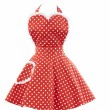 Deliciously Dotty Retro Red Sweetheart Apron