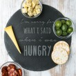 Engraved 'When I Was Hungry' Slate Chopping Board