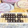 cocoapod personalised anniversary chocolates