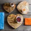 Heart Shaped Olive Wood Cheese/Chopping Boards - Three Sizes Available