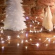 christmas table fairy lights