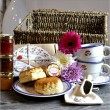 Cream Tea Hamper With China Set