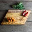 Geometric Olive Wood Chopping/Cheese Board