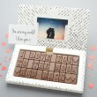 romantic chocolate greetings card