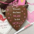Mothers Day Write on Message Chunky Chocolate Heart