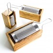 Italian Made Cheese Grater With Olive Wood Box