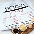 Victoria Sponge Recipe Tea Towel