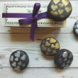 Macaron Selection Box of 5 with Metallic Heart Design