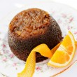 Steamed Marmalade Sponge Pudding with Orange Liqueur