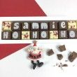 Personalised HO HO HO Christmas Chocolate Gift