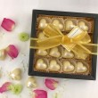 White Champagne Heart Chocolate Box