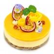 Raw Mango & Passion Fruit Cake