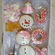 Snow man cookie and chocolate gift box