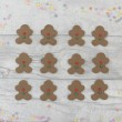 Edible Gingerbread Men Cupcake Toppers