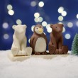 Chocolate Festive Animals Trio