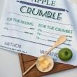 Apple Crumble Recipe Tea Towel