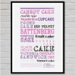 Cake Typography Art Print