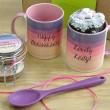 'Happy Anniversary Lovely Lady' Mug with Chocolate Cake Treat