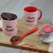 Personalised Christmas Festive Merry Christmas Mug with Chocolate Cake Treat