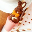 Set of 3 Strawberry Chocolate Easter Bunny Hot Chocolate Spoon