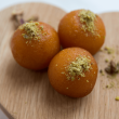 Popping Pistachio Gulab Jamuns - Indian Sweets