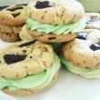 Mint Buttercream Chocolate Chip Cookie Sandwiches (Vegan)
