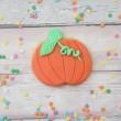 Pumpkin cookie favour party ideas