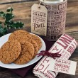 Yorkshire Parkin Biscuits and Tea Towel Gift Tube