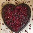 Vegan Valentine Heart Brownie