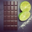 Handmade Dairy Free Milk Chocolate Bars with Lime & Sea Salt (3 bars)