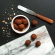 Vegan cacao + maca raw truffles
