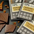 Raw Caramel Crunch 70% (5 Bars)