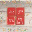 Dad you are my hero Father's Day Cookie Set