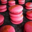 Vegan Sparkling Raspberry Macarons