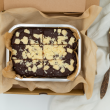 White chocolate chip brownies (GF, Vegan)