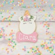 Personalised unicorn party favour cookie