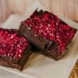 Raspberry Dark Choc Vegan Brownies