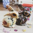 Halloween Chocolate Rabbits Inspired by Día de Muertos