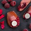 Rose and Raspberry madeleine