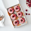 Baked Donuts Raspberry & White Chocolate | Vegan and Refined Sugar Free (Box of 6)