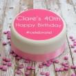 Personalised Birthday #Celebrate Cake Decoration
