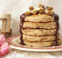 Banoffee Buckwheat Pancakes