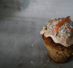 Paleo Carrot Cake Muffins with Maple Buttercream