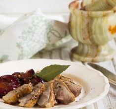British Duck Breast with Roasted Plums, Ginger and Szechuan Pepper