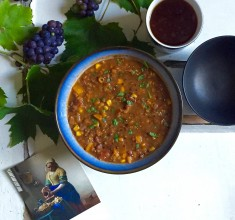 Spicy Lentil and Adzuki Bean Soup