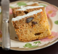 Carrot Cake with Rose and Cumin